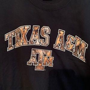 Black and Camouflage Texas A&M tshirt